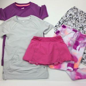 Athletic Wear Girls Size 7-8 (M) Bundle